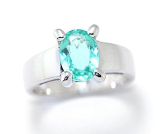 R1388 Sterling Silver Apatite Ring.