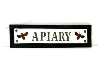 Apiary Sign, Beekeeper Sign, Apiarist, Bees, Modern Rustic, Apiarist Gift, Bee Decor,