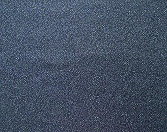 Blue Vine Calico Fabric - VIP Cranston  -  1 yard only