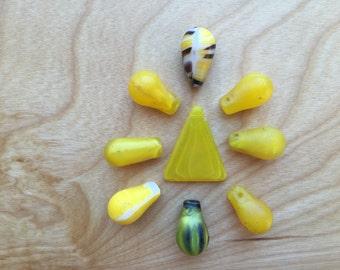 Yellow Mali Wedding Beads -- 56