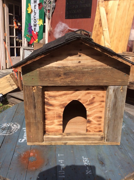 Items Similar To Custom Build Reclaimed Wood Cat House On Etsy