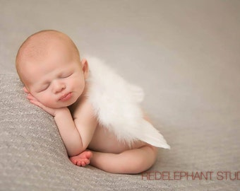 WHITE NEWBORN WINGS,White Feather Angel Wings,Newborn Angel Wings,Newborn Photo Shoot,Baby Shower Gift,Photography Prop,Angel Wings
