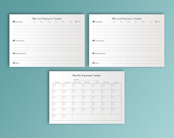 A5 Printables Budget Planner A5 Financial Planner Printable Bills Tracker Daily Expenses A5 Planner Inserts Filofax Money Planning PDF