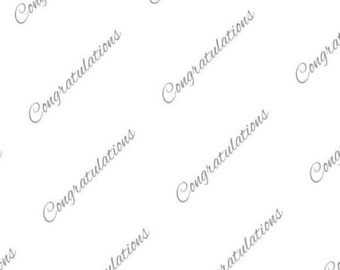 Congratulations Tissue Paper # 419 - Graduation, Wedding, Silver Anniversary  - 10 large sheets