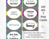 7 Different Promotional Postcard Pack for direct sales, independent consultant, marketing digital files