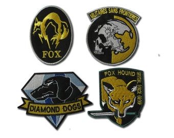 Metal Gear Solid cosplay airsoft iron on patch set