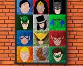 Minimalism Art - DC Heroe...