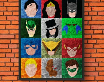 DC Heroes Minimalism Semi-Gloss Print