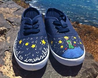 "Unique sneakers ""The little Prince"""