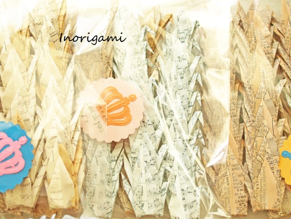 1000 origami 3 cranes senba zuru old paper design by for 1000 paper cranes wedding decoration