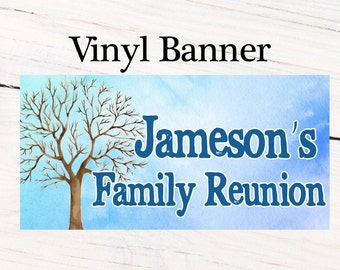 Family Reunion Photo Banner ~ Personalized Party Banners- Family Tree Banner, Reunion Party Banner, Printed Vinyl Banner