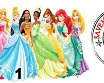 Disney Princess Iron On Transfer Personalized or Customized with your name!