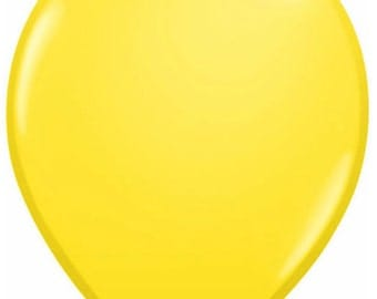 "20 - 11"" Yellow Latex Balloons"