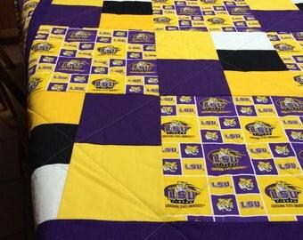 LSU Tigers Handmade Quilt