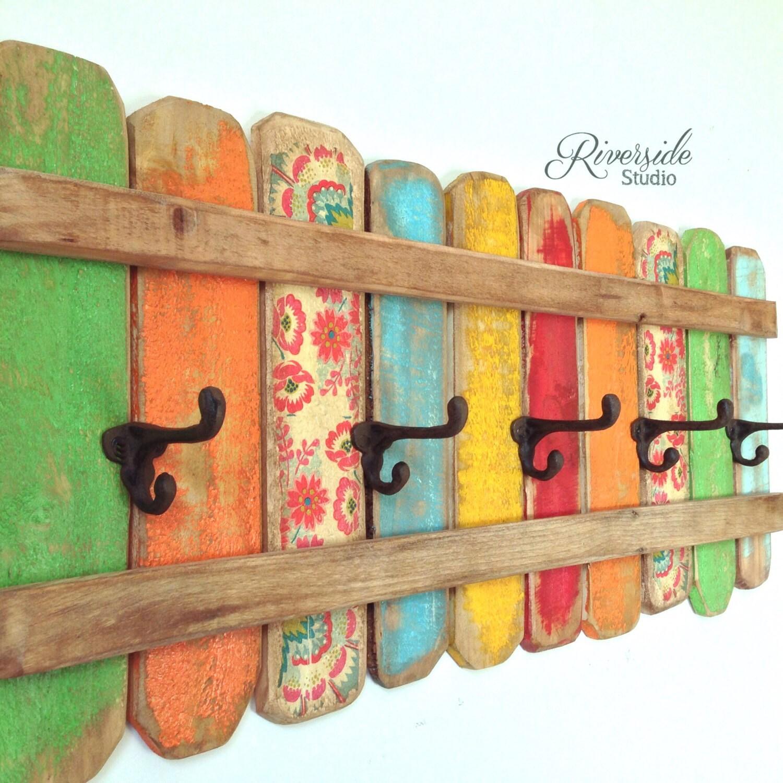 Handmade Rustic Wall Decor : Rustic coat rack wall art handmade reclaimed wood