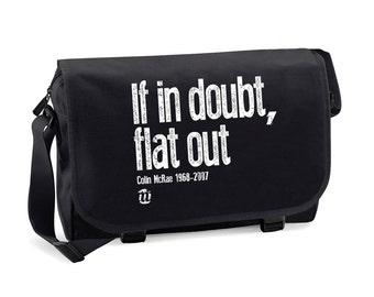 If in Doubt, Flat Out Men's Messenger Bag