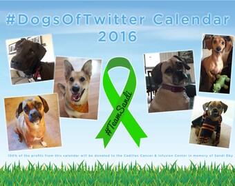 DogsofTwitter Calendar / Cadillac Cancer Care Center Donation / #TeamSandi Donation