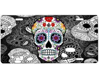 Sugar Skull License Plate