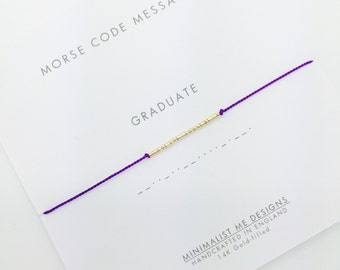 Morse code Graduation celebration beacelet
