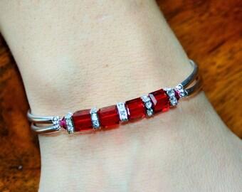 Swarovski Crystal July Birthstone Bracelet