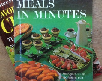 "Vintage Better Homes and Gardens Creative Cookbooks - ""Meals in Minutes"""