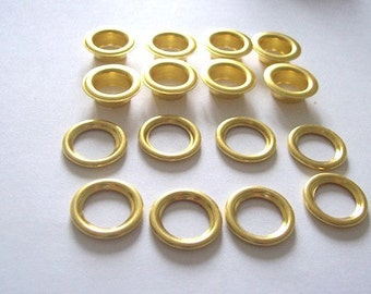 Grommets Eyelets Gold 18mm eyelets rivets - pack of 8