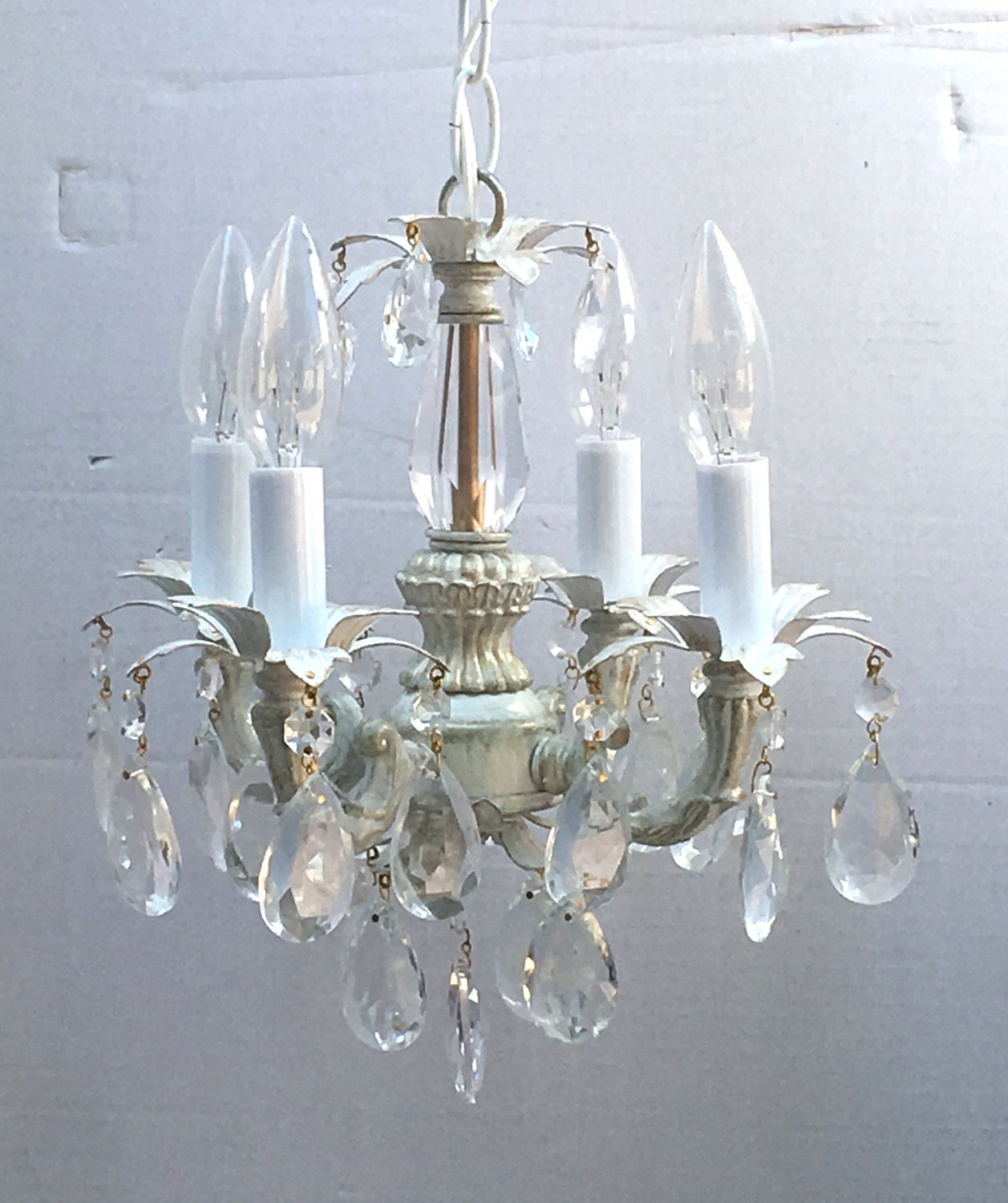 shabby chic cottage style mini mini chandelier for a bedroom room closet or