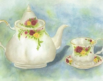 Tea Cup Original Artwork Print