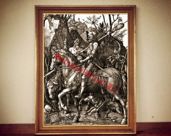 Knight Death And The Devil Print Albrecht D Rer The Rider Illustration