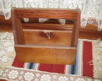 Vintage Wooden Tool Carrier