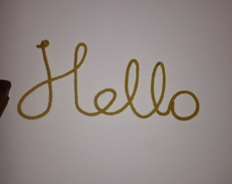 Hello  - woolen word | Wall decoration