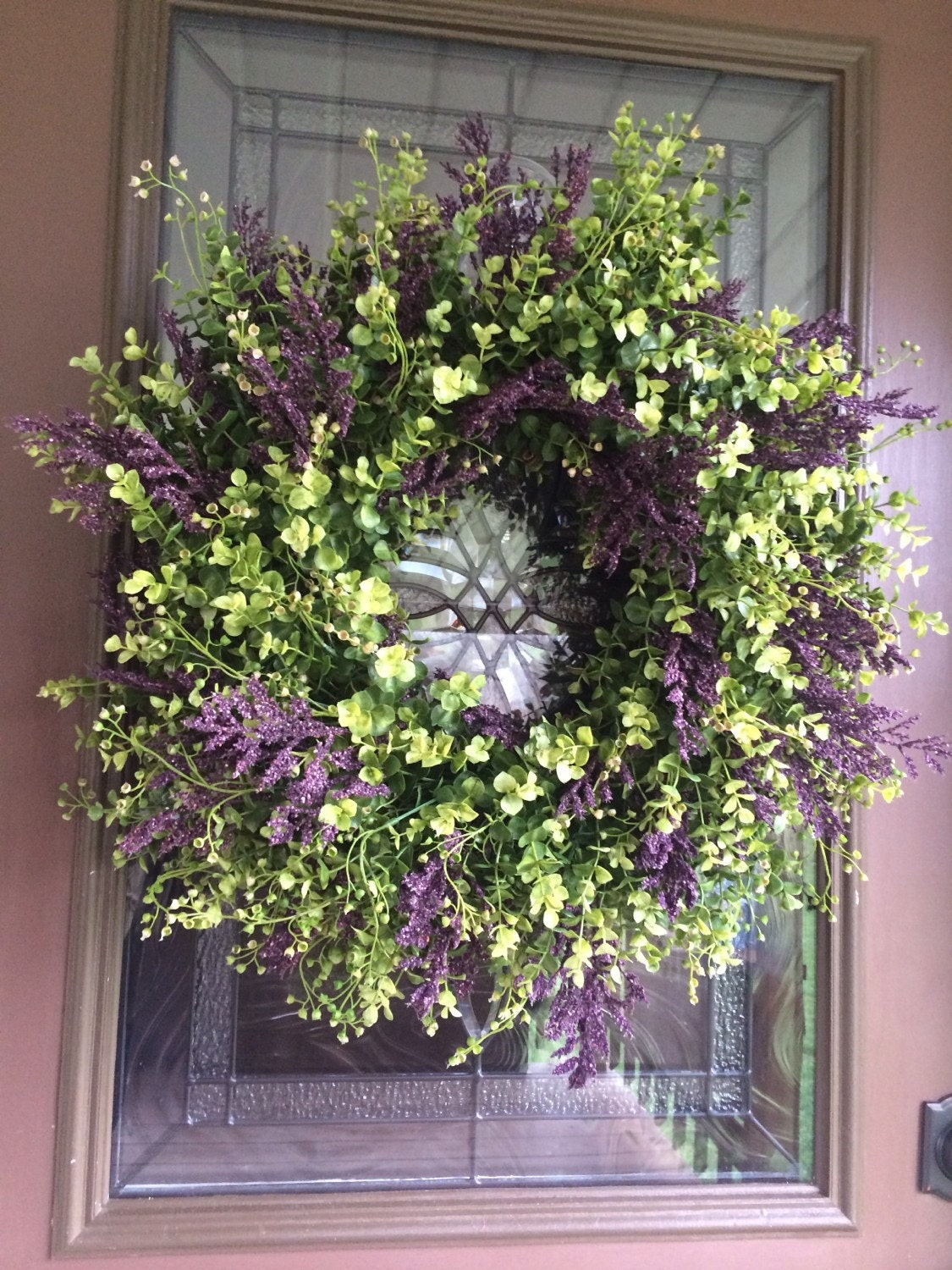 Spring Wreath Eucalyptus Wreath Boxwood Wreath Greenery