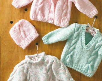 Instant Download  PDF - Chunky Cable Cardigan, Jumper and Hat Knitting Pattern  (11)