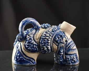 Handmade Ceramic Teapot: Dragon Scale Teapot