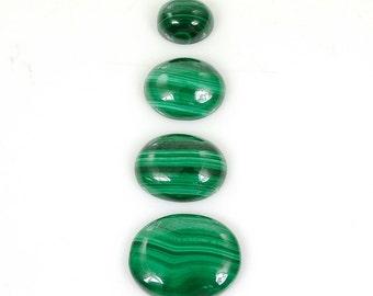Natural Green Malachite Gemstone : 41.85cts 100% Natural Green Malachite Gemstone Oval Cabochon 19*16 To 10.5*9*5.5h For Jewelry