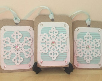 Christmas Gift Tags, snowflake gift tags