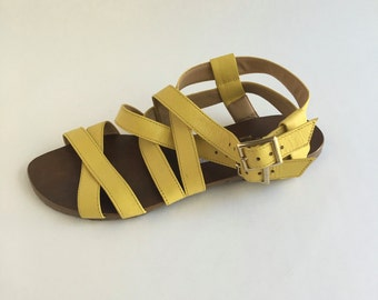 Brazilian Leather Gladiator Sandals