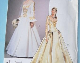 Vogue 2775 GORGEOUS Bridal Gown Wedding Dress Pattern STUNNING Design