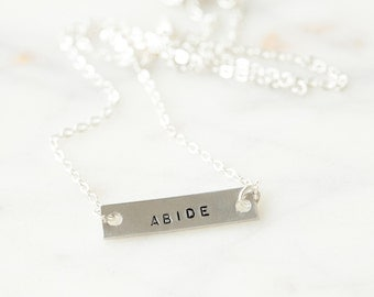Abide Necklace-Silver