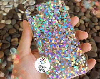 Sparkle case, glitter case, iphone case, hologram case, bling bling, silver glitter, iphone case, samsung case