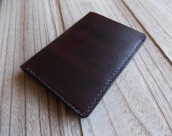 "Handmade  genuine leather wallet ""Simple"""