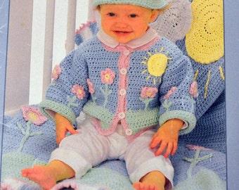 Bernat Cotton Tots Sweet Sets Knit and Crochet  Patterns for Babies #104