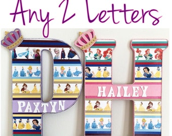 "Any 2 Letters - Extra Large 18"" custom letters in any design/theme"