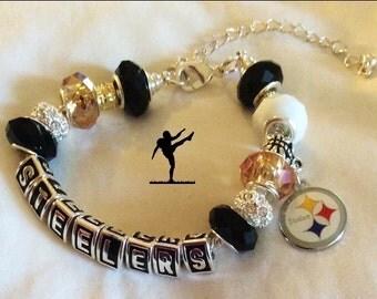 Pittsburgh Steelers inspired jewelry bracelets
