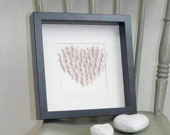 Handmade butterfly heart picture