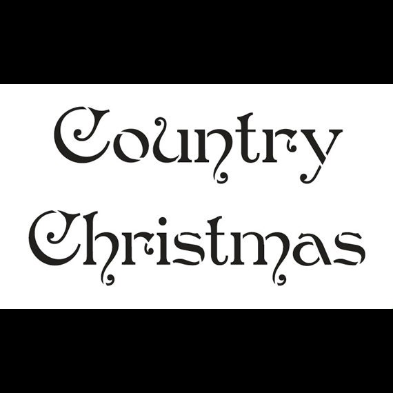 "Country Christmas - Word Stencil - STCL529 - 7"" X 4"" by StudioR12"