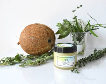 Heal Herbal Jelly. All-purpose ointment. 100% food grade, organic, natural. Unpetroleum jelly. Nipple balm.