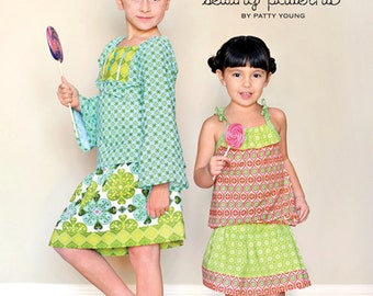 ModKid Nina Pattern by Patty Young--  Top & Skirt , size 2T-7