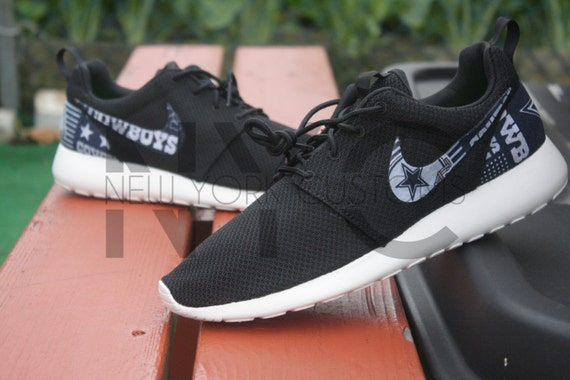 new concept 91951 3f1df Dallas Cowboys Version 2 Nike Roshe Run Black Custom by NYCustoms best