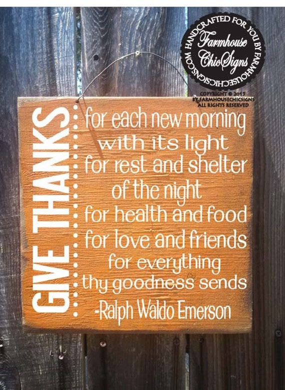 Fall Decor, Autumn Decor, Ralph Waldo Emerson Quote, Thanksgiving decor, Emerson quote, thanksgiving sign,autumn sign, fall sign, 320/170